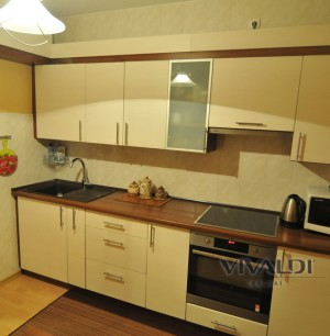 """Kitchen furniture  """"Clean"""" with a two-colored top cover"""