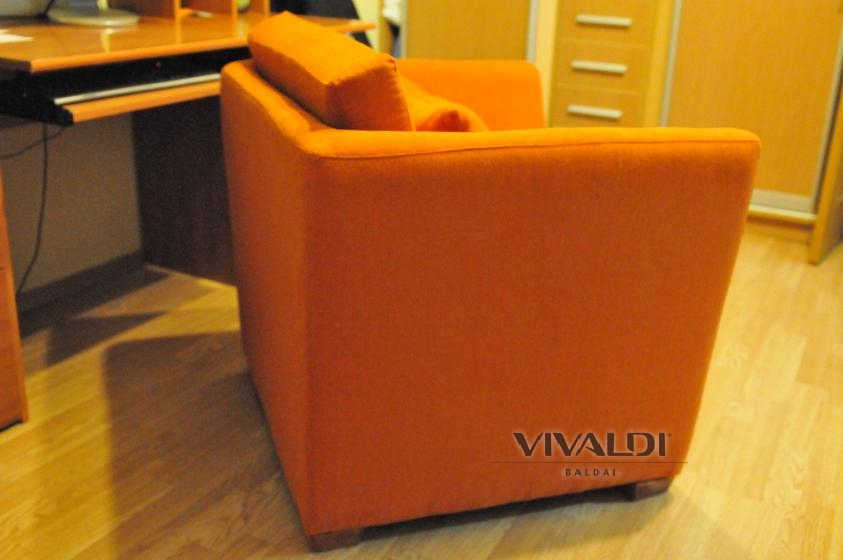 """Armchairs """"Orange"""" carrot-colored"""