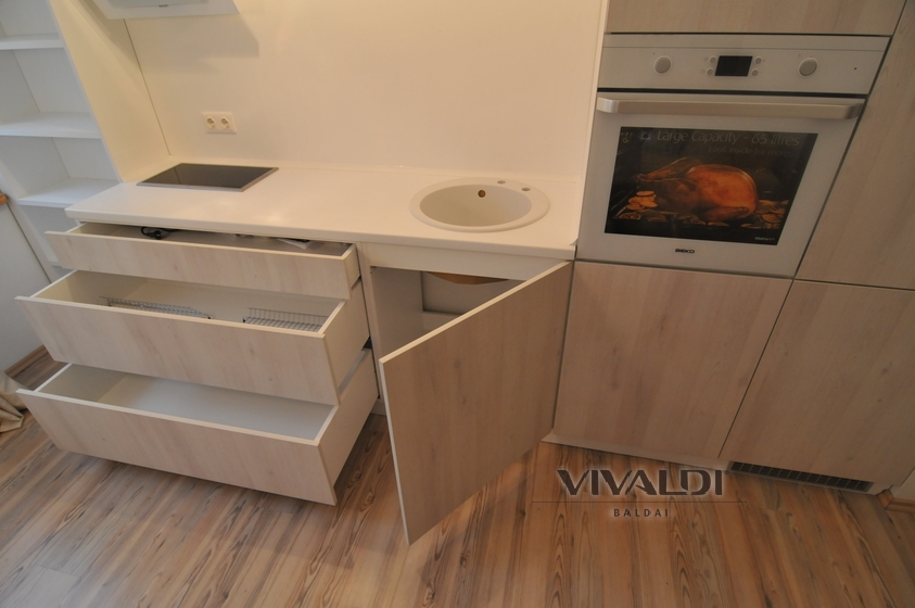 "Kitchen furniture ""Galante"" without handles"